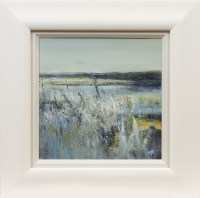 Lot 85 - MAY BYRNE, WINTER SKIES oil on board, signed...