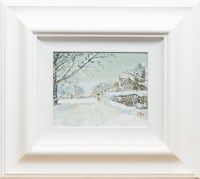 Lot 1279-CONTEMPORARY SCHOOL, FIGURE IN WINTER LANDSCAPE...