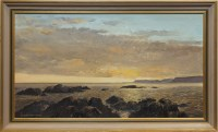 Lot 1281-* PETER ST CLAIR MERRIMAN, SUNSET OVER MULL FROM...