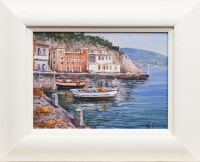 Lot 1298-CONTEMPORARY SCHOOL, MEDITERRANEAN HARBOUR oil on ...