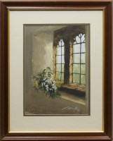 Lot 1304-* GORDON BUTLER STILL WINDOW watercolour on paper,...