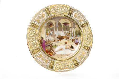 Lot 849-MOST ATTRACTIVE BERLIN PORCELAIN CABINET PLATE...
