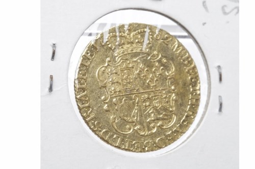 Lot 521-GOLD GUINEA DATED 1782