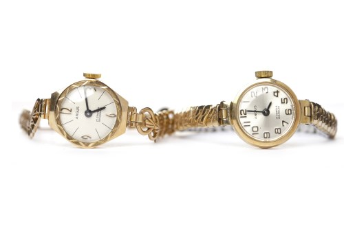 Lot 754-LADY'S NINE CARAT GOLD ANGUS MANUAL WIND WRIST...