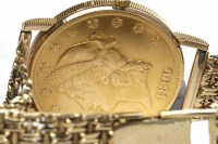 Lot 766-GENTLEMAN'S CORUM EIGHTEEN CARAT GOLD DOLLAR COIN ...