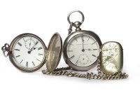 Lot 775-TWO VICTORIAN POCKET WATCHES comprising a silver...