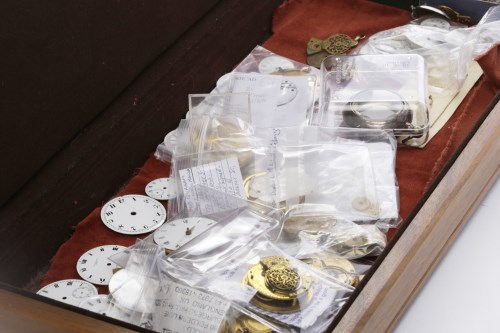 Lot 776-COLLECTION OF POCKET WATCH MOVEMENTS AND DIALS...