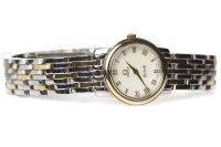 Lot 798-LADY'S OMEGA DE VILLE BI COLOUR STAINLESS STEEL...