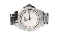 Lot 804-LADY'S LONGINES CONQUEST DIAMOND SET STAINLESS...