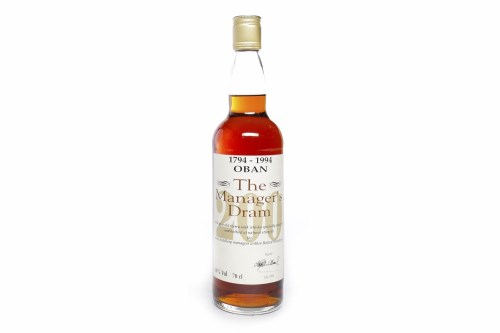 Lot 1010-OBAN 'THE MANAGER'S DRAM' 200th ANNIVERSARY AGED...