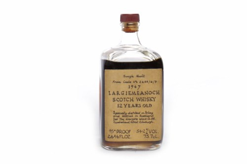 Lot 1173-LARGIEMEANOCH 1967 12 YEARS OLD Active. Bowmore...