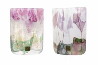 Lot 430-TWO ISLE OF WIGHT IRIDESCENT GLASS VASES each of...