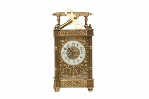 Lot 627-LATE 19TH CENTURY FRENCH BRASS CARRIAGE CLOCK the ...