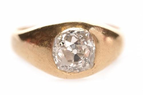 Lot 12 - IMPRESSIVE LATE VICTORIAN DIAMOND SINGLE STONE...