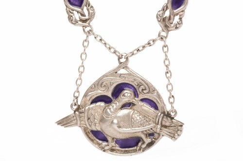 Lot 50 - ALEXANDER RITCHIE OF IONA SILVER ENAMELLED...