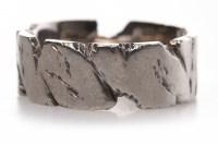 Lot 63-GENTLEMAN'S PLATINUM DIAMOND SET RING of...