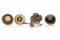 Lot 104-GROUP OF VICTORIAN BROOCHES comprising two large...