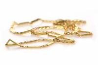 Lot 174 - HIGH CARAT GOLD NECKLET formed by engraved...