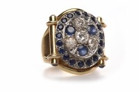 Lot 269 - ORNATE DIAMOND AND SAPPHIRE DRESS RING the...