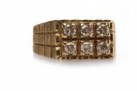 Lot 270 - GENTLEMAN'S DIAMOND RING the rectangular bezel...