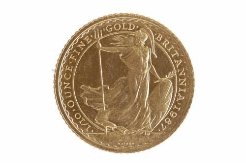 Lot 546-BRITANNIA SET OF GOLD COINS compromising a £100...