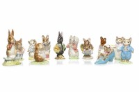 Lot 759-TWELVE BESWICK BEATRIX POTTER FIGURES comprising: ...