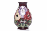 Lot 762-MODERN MOORCROFT VASE of oviform, with tube-lined ...