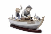 Lot 771-LLADRO FIGURE GROUP 'FISHING WITH GRAMPS' by J....