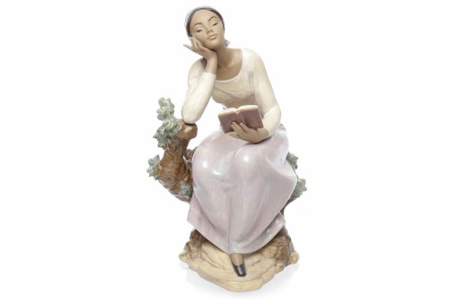 Lot 776 - TWO LLADRO GRES FIGURES OF WOMEN one standing...