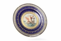 Lot 806-MEISSEN EUROPA CABINET PLATE after F. Boucher,...