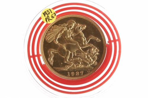 Lot 552-GOLD DOUBLE SOVEREIGN DATED 1937