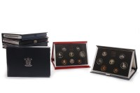 Lot 541-TEN UK PROOF COINAGE SETS including Deluxe sets,...