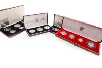 Lot 548-FOUR SILVER PROOF COIN SETS including the United...