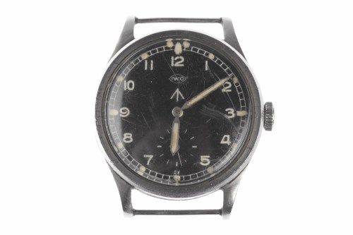 Lot 768-GENTLEMAN'S IWC MILITARY ISSUE STAINLESS STEEL...