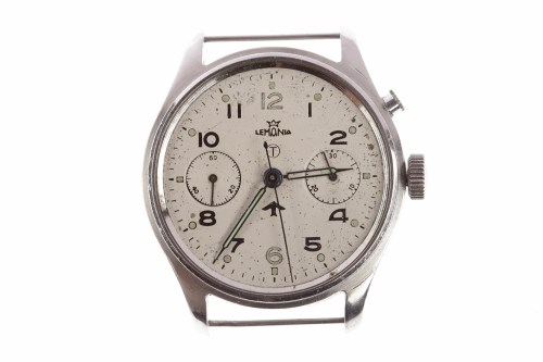 Lot 782-GENTLEMAN'S LEMANIA MILITARY ISSUE STAINLESS...