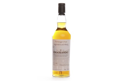 Lot 1212 - KNOCKANDO 'THE MANAGERS DRAM' AGED 12 YEARS...