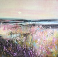 Lot 216 - MAY BYRNE, PINK DAWN oil on board, signed 40cm...