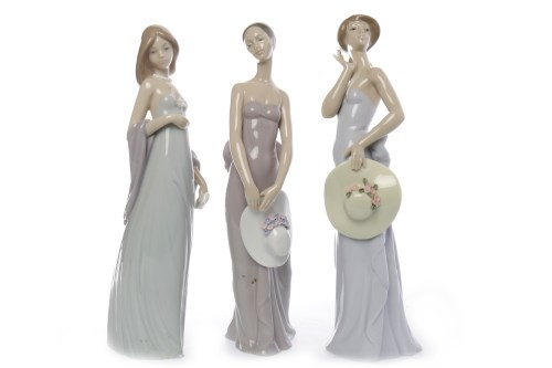 Lot 752-LLADRO FIGURE 'BRIDESMAID' along with two other...