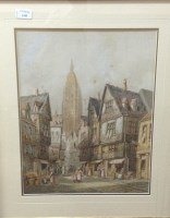 Lot 1245-HENRI SCHAFER (BRITISH 1833 - 1916), STREET SCENE ...