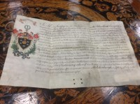Lot 1259-LATE 18TH CENTURY GRANT OF ARMS Letter of Patent...