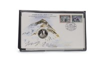 Lot 1290-EDMUND HILLARY AND TENZING NORGAY FIRST DAY OF...
