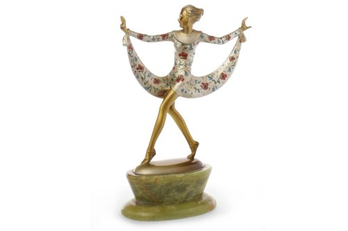 Lot 1291-JOSEF LORENZL - DANCING GIRL charming painted...