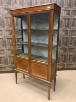 Lot 1308-EDWARDIAN MAHOGANY SHERATON REVIVAL DISPLAY...