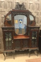 Lot 1309-LATE VICTORIAN MAHOGANY DISPLAY CABINET with...