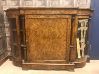 Lot 1310-VICTORIAN WALNUT CREDENZA the central cupboard...