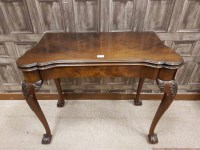 Lot 1313-MAHOGANY FOLD OVER TEA TABLE OF GEORGE I DESIGN...