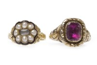 Lot 20-TWO EARLY NINETEENTH CENTURY DRESS RINGS one set...
