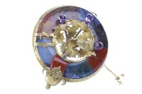 Lot 31-IMPRESSIVE VICTORIAN SCOTTISH AGATE SET BROOCH of ...