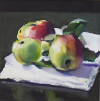Lot 13-* MARION DRUMMOND, WINDFALL oil on board, signed...