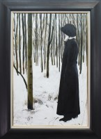 Lot 35-* GERARD BURNS, WINTER FOREST oil on canvas,...